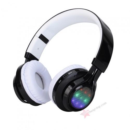 Беспроводные наушники с LED эквалайзером Wireless AB-005 (Bluetooth, MP3, FM, AUX, Mic)