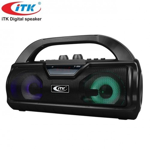 Портативный стерео бумбокс ITK T-356 (Bluetooth, USB, micro SD, FM, AUX, Mic)