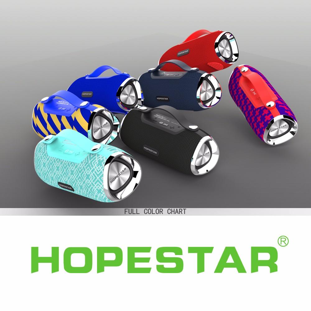 Портативная влагозащищенная стерео колонка Hopestar H40 (Bluetooth, MP3, AUX, Mic)