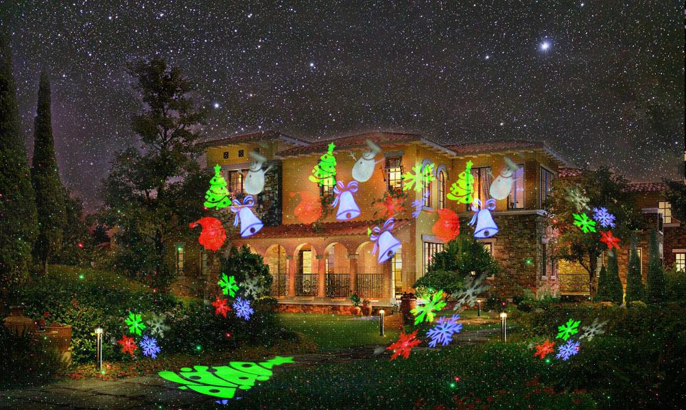 светодиодный проектор рождество